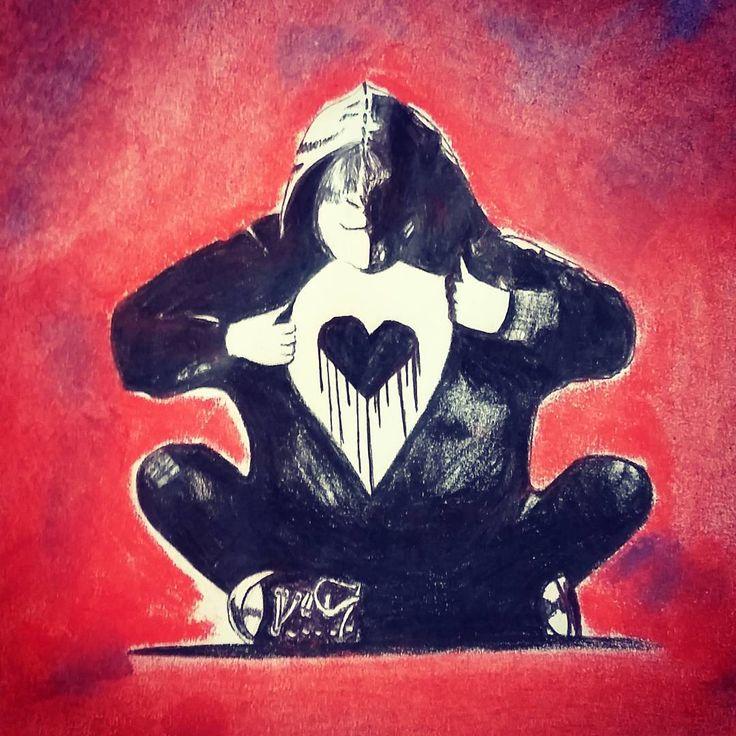 """Another one #5sosfam #myart #drawing #sketch #fanart #fightingfor5sos #artist #jetblackheart #thenewbrokenscene"""