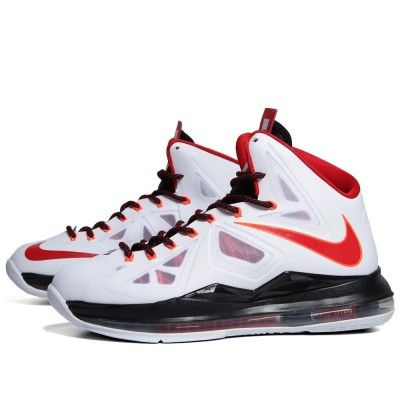 Nike Lebron James X Home Hyperfuse White, Red And Black