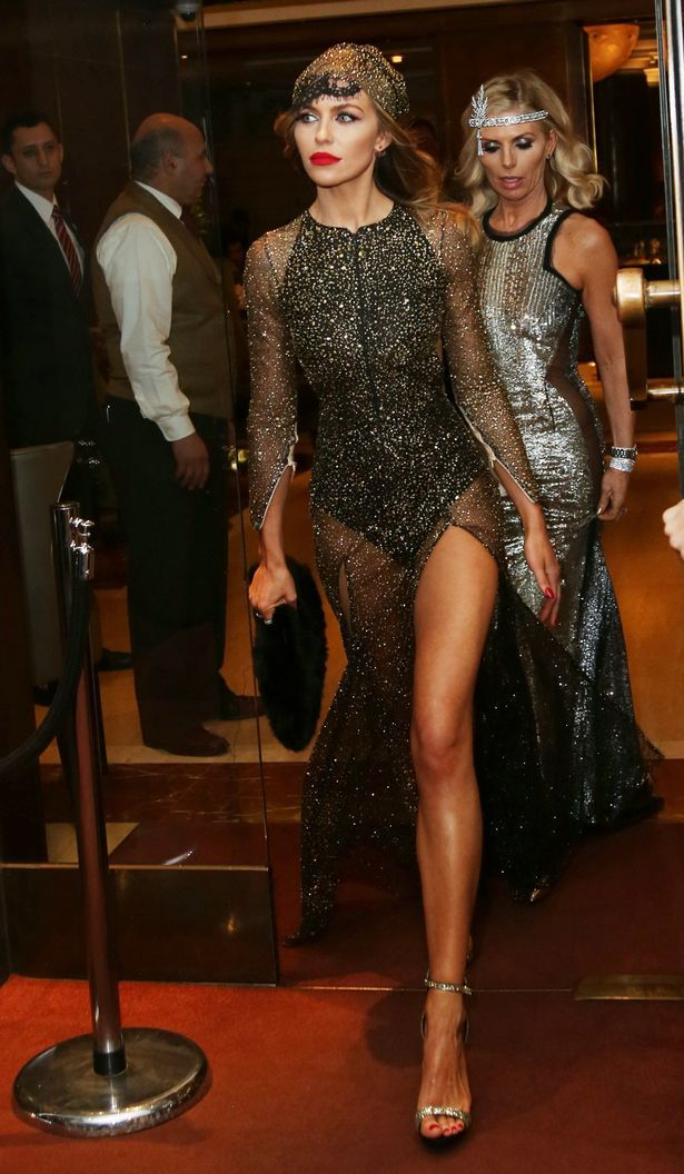 Abbey Clancy Stuns In A Sheer Black Dress At Her 1920s Themed 30
