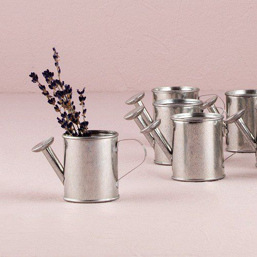 "Miniature Watering Cans 2.25"" h X 2"" w  - for mixing up items surrounding teapot centerpieces?"
