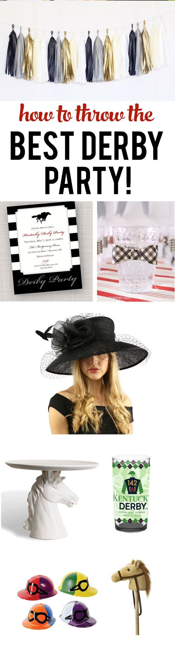 Tips, tricks and cute ideas for throwing your Best Kentucky Derby Party Ever! So many fun party ideas!!  {ad}
