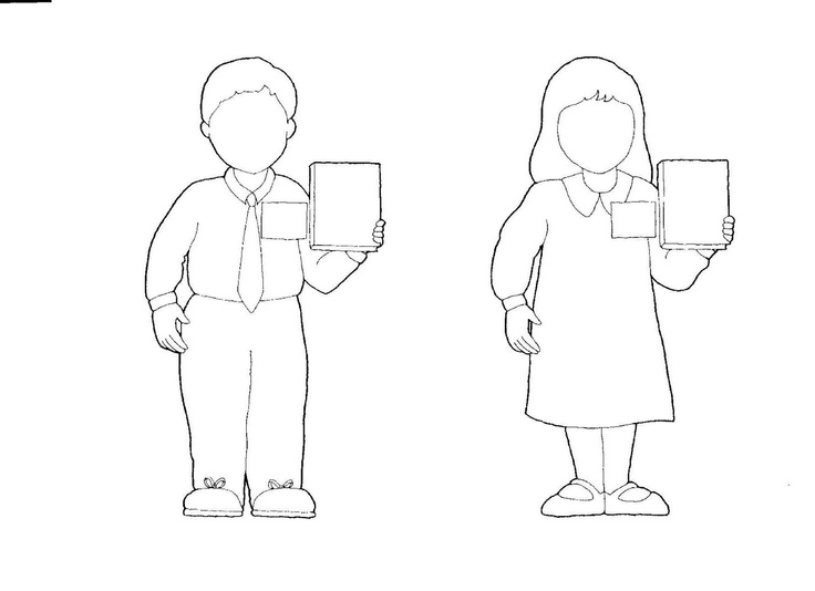 missionary coloring page lds - boy girl outline primary pinterest boys and girls