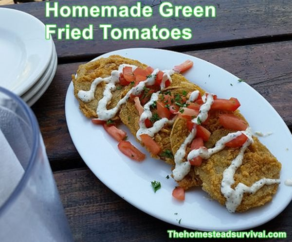 Homemade Green Fried Tomatoes - Homesteading  - The Homestead Survival .Com