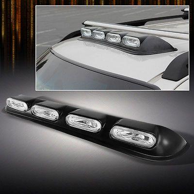 Roof Top 4x4 Offroad Suv Truck Clear Fog Lights Bar W