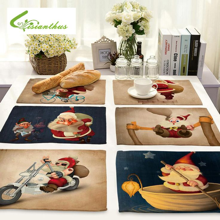 Christmas Placemats Dining Table Mats //Price: $12.36 & FREE Shipping //     }