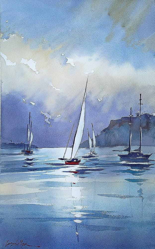 360 best Boats & Ships - ART images on Pinterest | Water colors, Abstract art and Canvases