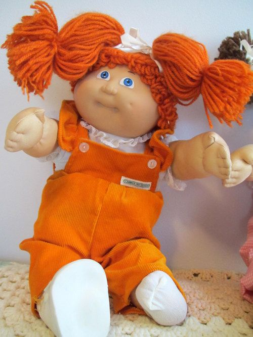 Vintage JESMAR Cabbage Patch Kid orange hair and blue by cheezz1, $30.00