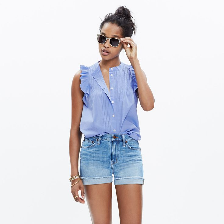 End-on-End Ruffle Shirt : shirts & tops | Madewell