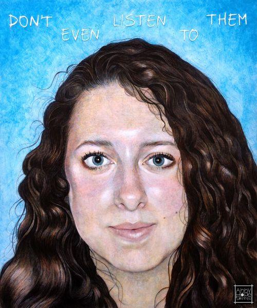 Title: Kat. More on http://facebook.com/abbyhopeskinnerart