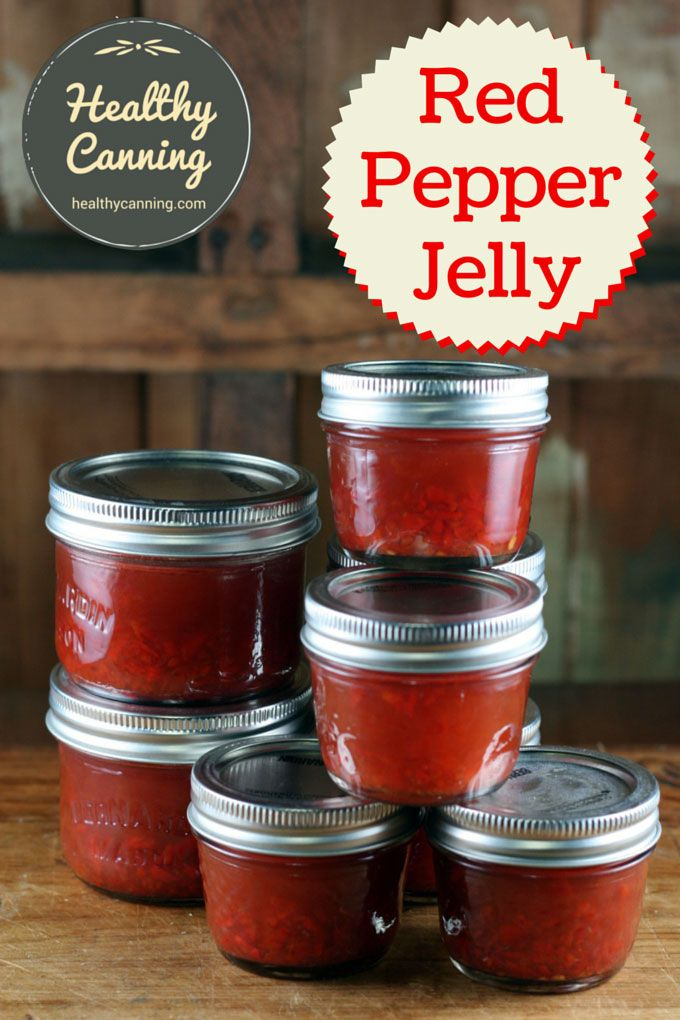 Red Pepper Jelly. Red Pepper Jelly is so expensive to buy at the store for what is basically coloured, flavoured sugar water. And most home canning recipes for it are little better, if not worse. This sugar-free, salt-free recipe is only high on one thing: taste. Your guests won't even care that it's good for them! #canning
