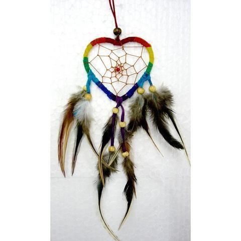Rainbow Heart Dream Catcher - The Hippie House