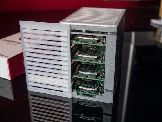 Tiny Raspberry Pi 'Server Rack' / Cluster Case 4   Etsy   Computer