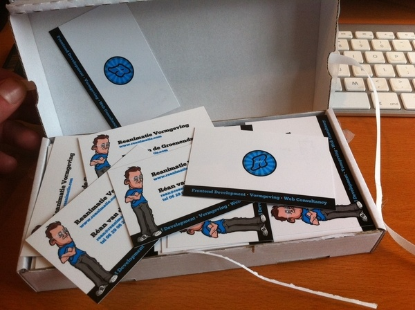 My businesscards. The character is designer by 'A Guy Called Billy'. Thanx again mate!