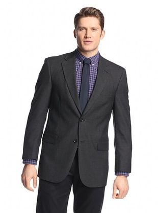 82% OFF hickey Men's 2 Button Side Vent Solid Sportcoat (Charcoal)