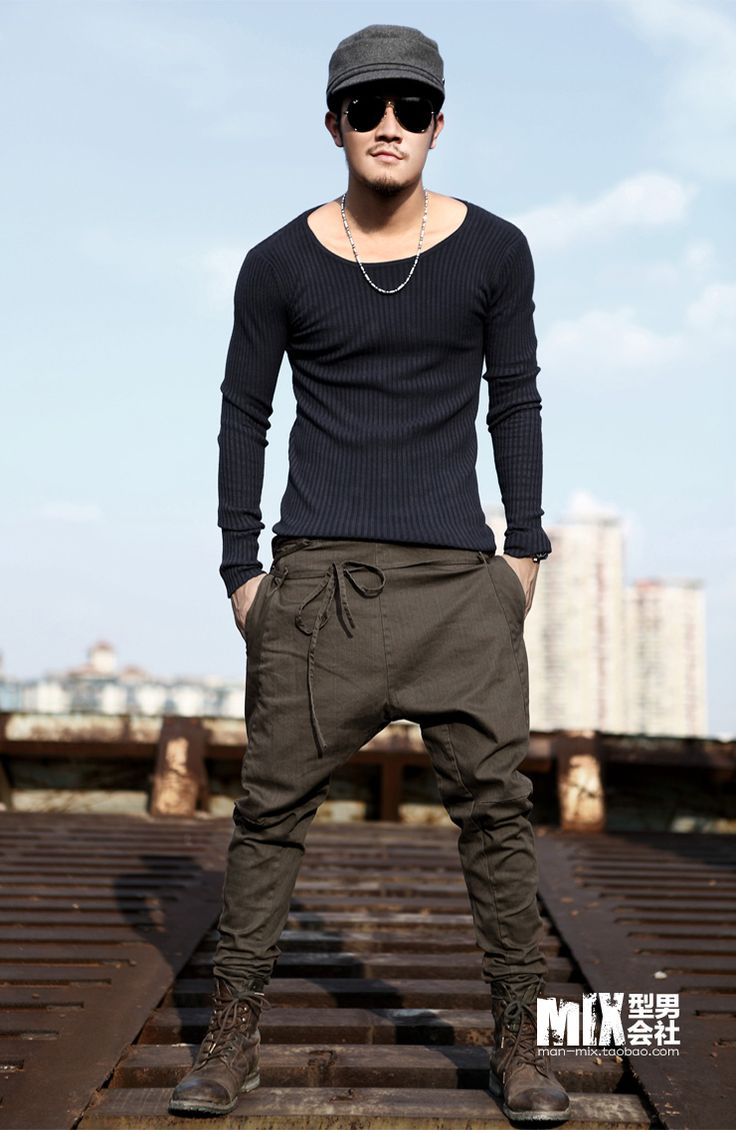 Free Shipping Autumn Unique Waist Rope Skinny Pants Male Fashion Men Casual Pants Harem Pants -3299