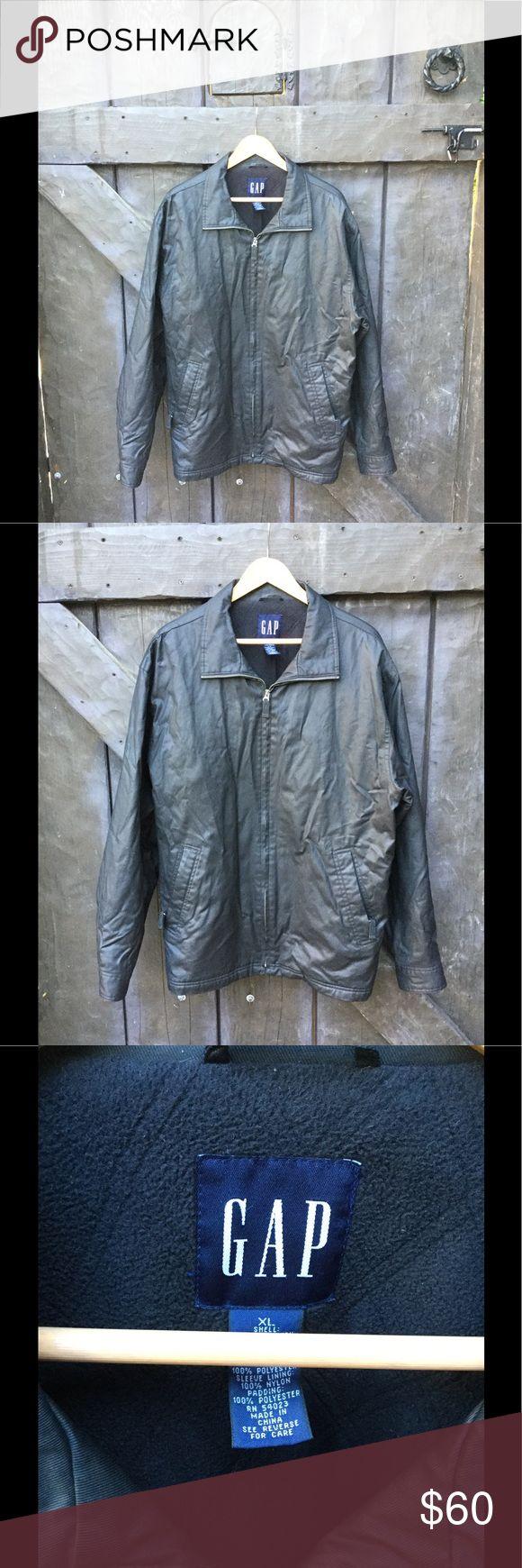 Gap men's Black faux leather jacket XL Gap men's Black faux leather jacket XL GAP Jackets & Coats Lightweight & Shirt Jackets