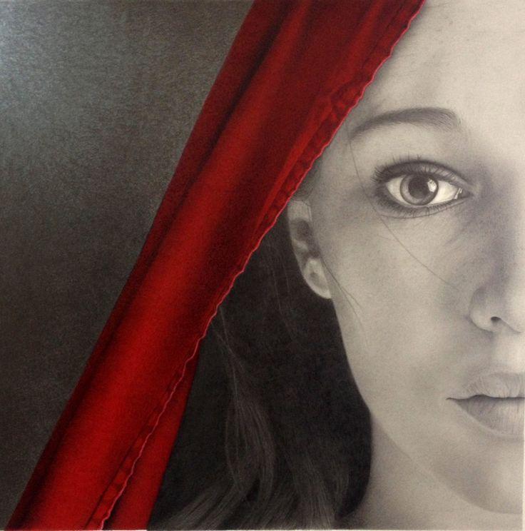 """Half Truth"" graphite & ink drawing Gillian Buckley Artist"