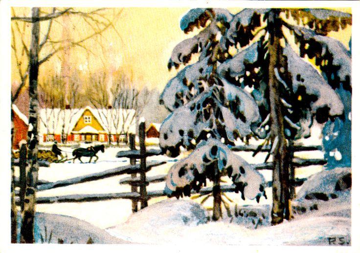 Kuva albumissa PANTELEIMON SAHAROFF - Google Kuvat, Näköispainos 841/7  vanha Suomalainen joulukortti, Satukustannus Tampere.