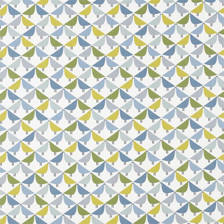 Scion Noukko coll. Lintu  Love birds meet to create a fun geometric fabric, available in three trend driven colour palettes.  Available in three colours