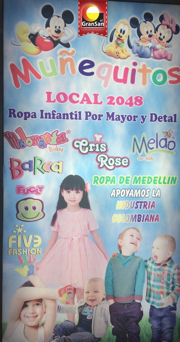Muñequitos es una marca especializada en ropa infantil con las ultimas tendencias en moda. Encuentrala en el #GranSan, local 2048.  #ColombianoCompraColombiano  #SoyCapaz de creer en mi país!
