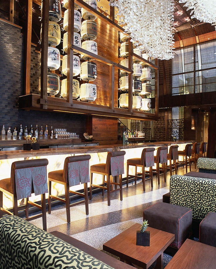 Interior design | decoration | restaurant design | Nobu, New York