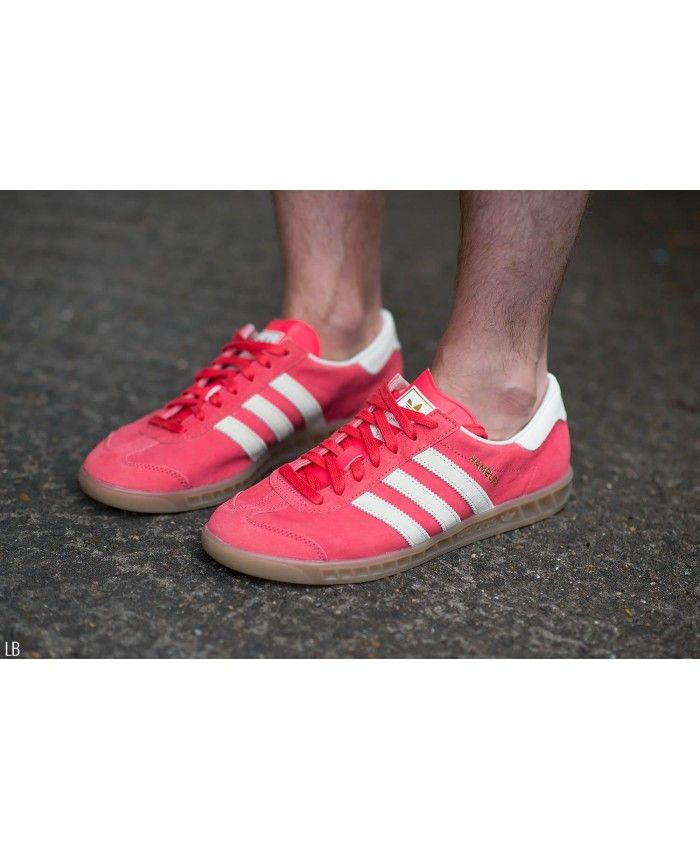 quality design c471d 778bd Adidas Hamburg Shock Red Gum Trainer