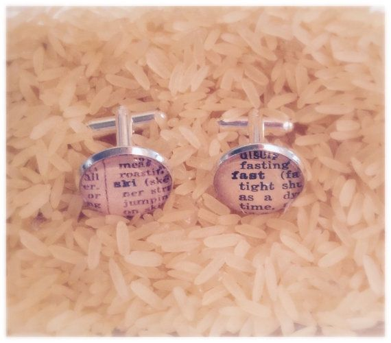 For those guys who love to rip down the mountain! These cufflinks are hand made using words from a 1950s dictionary, giving them a very stylish