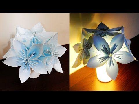 Paper Crafts (Home Decoration Ideas):Beautiful Multicoloured Lantern : Christmas Decor - YouTube