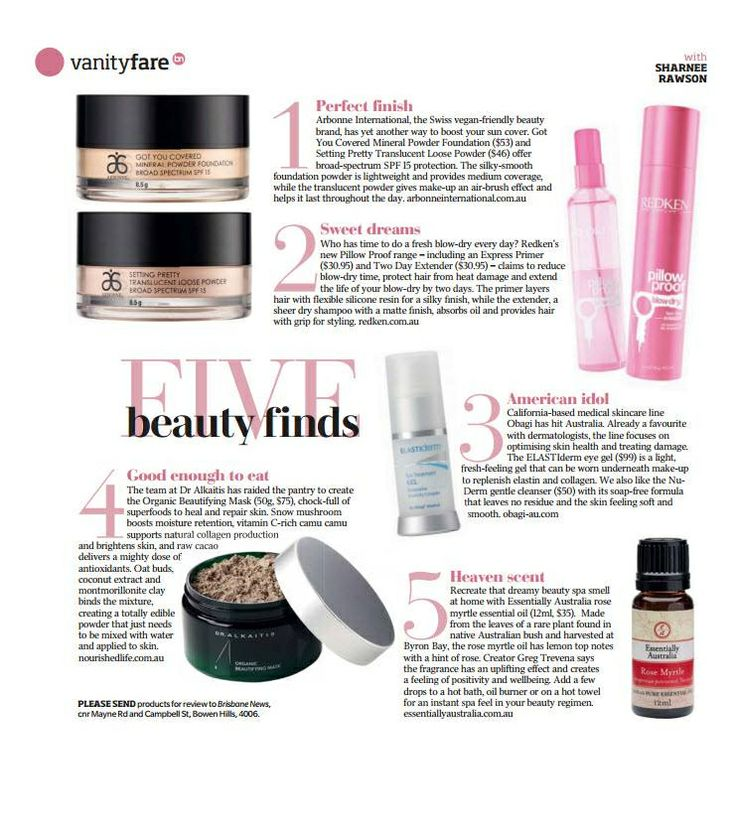 [In the News] Arbonne's Setting Pretty Translucent Powder  Got You Covered Mineral Powder Foundation have been featured in the June 4th issue of Brisbane News! Check out last week's edition of the magazine or learn more about the products here: www.rhonafitzpatrick.myarbonne.com.au