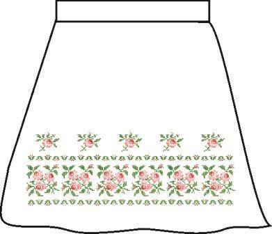 Льняная серая детская юбка СПДЛ-1