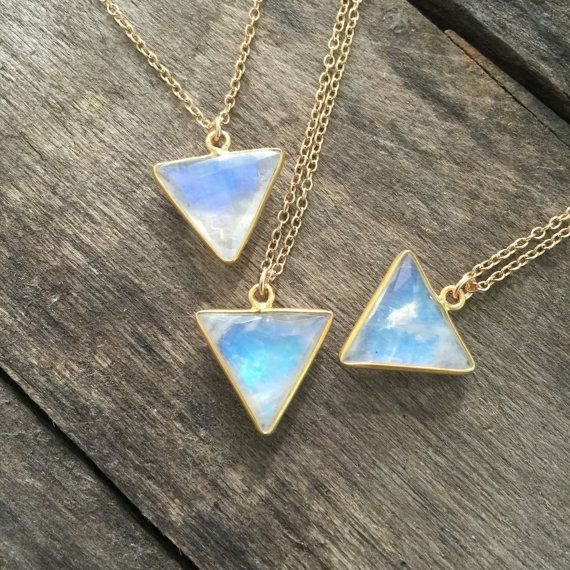 Moonstone Necklace Gold Necklace Gemstone by julianneblumlo