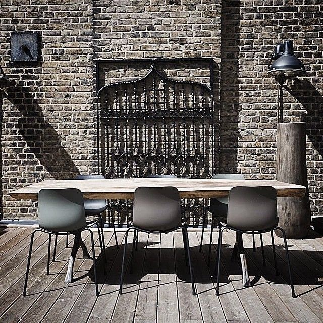 Beautiful shot of our Rough Table and Langue chairs @norr11 #rough #table #solid #wood #indoor #outdoor #diningtable #danishdesign #diningchairs #interior #interiordesign #furniture #timeless #luxury #scandinavian #instaliving #instahome