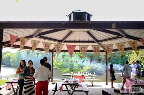 Outdoor Picnic Baby Shower For Rhett Personalized Banner