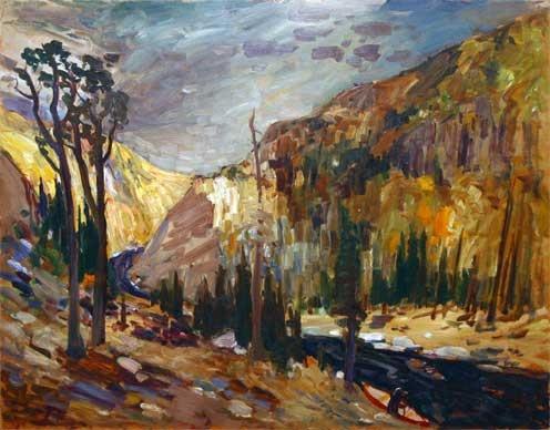 Portage sur la rivière Korok / René Richard