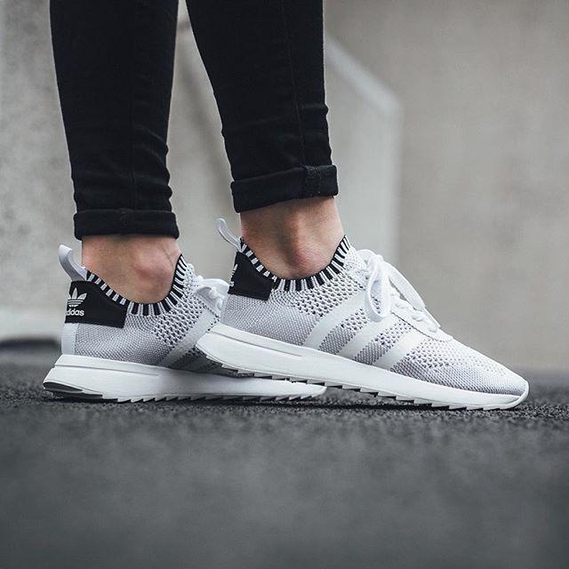 811071e8dd6ea9 Adidas Originals Flashback W Primeknit  Footwear White Core Black Clear  Grey