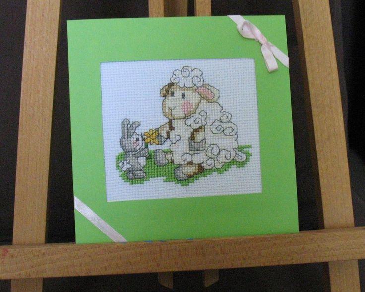 Wielkanoc Easter Oster Karta Z Kopertą Baranek Rękodzieło Handmade | eBay