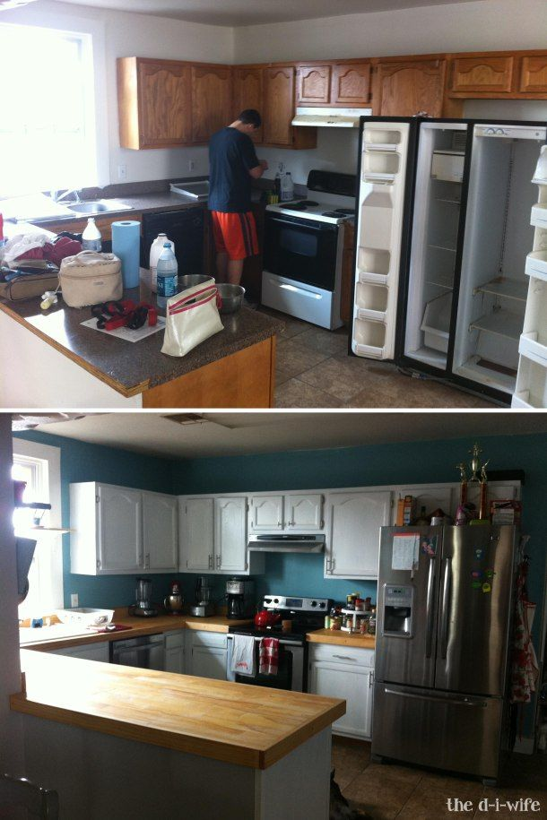 1000 images about wood butcher block countertop idea on for Cheap kitchen benchtop ideas
