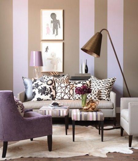Violetas, Beges e Verdes. Elegante, relaxante, aconchegante