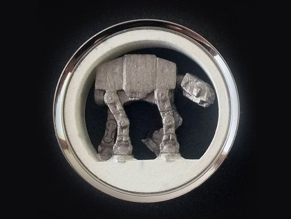 "Star Wars Plugs AT-AT Walker Pair 1"" - 2"" 316L Surgical Steel Tunnels 3D Printed 25mm 30mm 31mm 32mm 35mm 38mm 41mm 44mm 45mm 47mm 48mm 50mm on Etsy, $39.95"