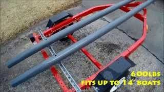 Hobie Pro Angler 14 Custom DiY Trailer that's cheap!