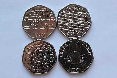 4x rare 50p coins peter rabbit, #benjamin #britten, battle of #britain 1940 & wwf,  View more on the LINK: 	http://www.zeppy.io/product/gb/2/222313853843/