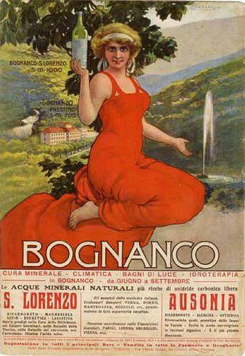 La pubblicità di Bognanco firmata da Osvaldo Ballerio negli anni Trenta   #TuscanyAgriturismoGiratola