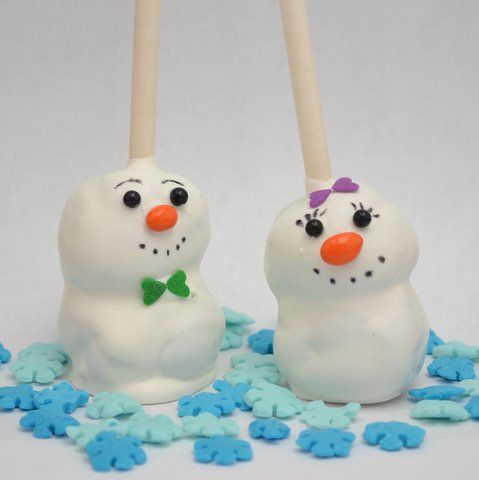 Brownie Ball Snowmen
