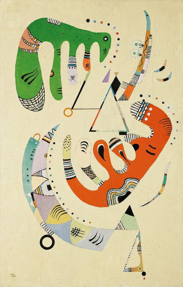 Wassily Kandinsky – Vert et Rouge, 1940