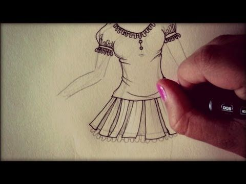 ▶ Disegnare abiti e scarpe nelle ragazze manga ❥ How to draw dresses and shoes on Manga Girls - YouTube
