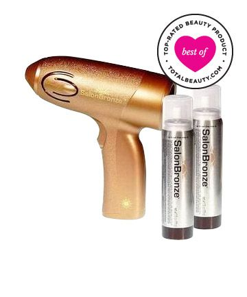 "Best Self-tanner No. 3: Sally Beauty Salon Bronze Airbrush Tanning System, $12.99. Why it's great: Sally's airbrush tanning system made it into our top three due to its even and easy application, as well as its natural color. ""It's about the only one I trust not to turn me orange,"" says one reviewer. Another user agrees, adding, ""this honestly beats spray tans from even the best salons."""