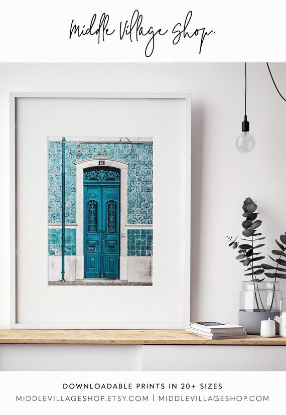Lisbon Print Portugal Poster Portuguese Tiles Blue Door Print Lisbon Wall Art Downloadable Prints Lisbon City Photography Prints Portugal Bs Huge Wall Art Prints Wall Art Prints