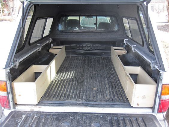 Image result for pickup truck cap with side storage