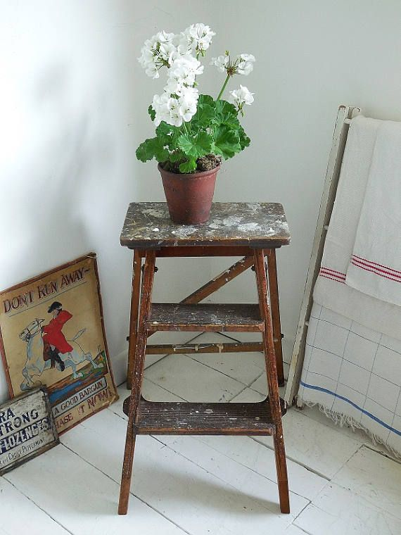 Check out this item in my Etsy shop https://www.etsy.com/uk/listing/539224767/small-vintage-step-ladder-kitchen-steps
