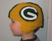 Green Bay Packer Helmet--ADULT NFL Football Hat. $54.00, via Etsy.